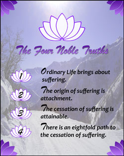 The Four Noble Truths of Buddhism condensed